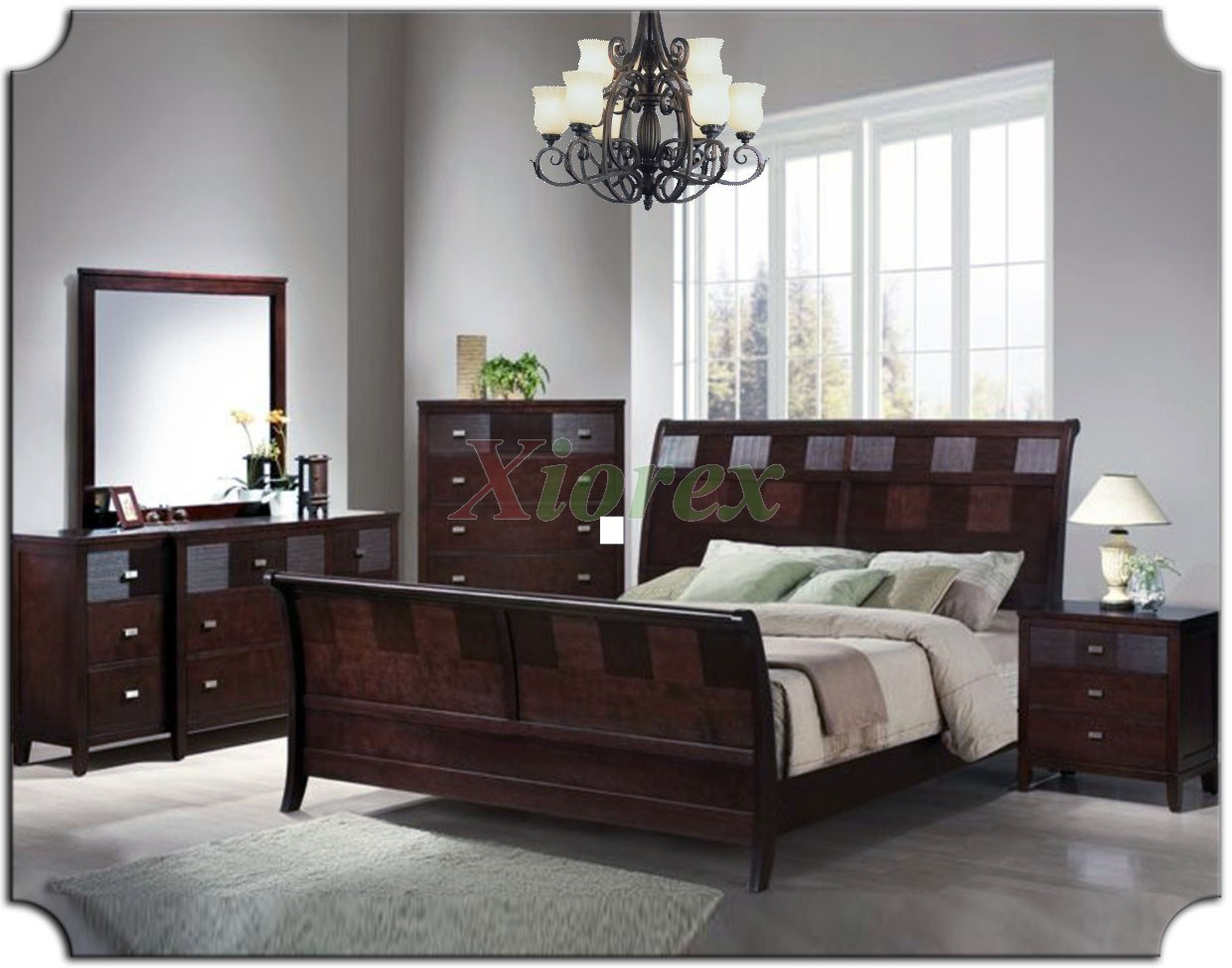 Sleigh bedroom furniture set xiorex