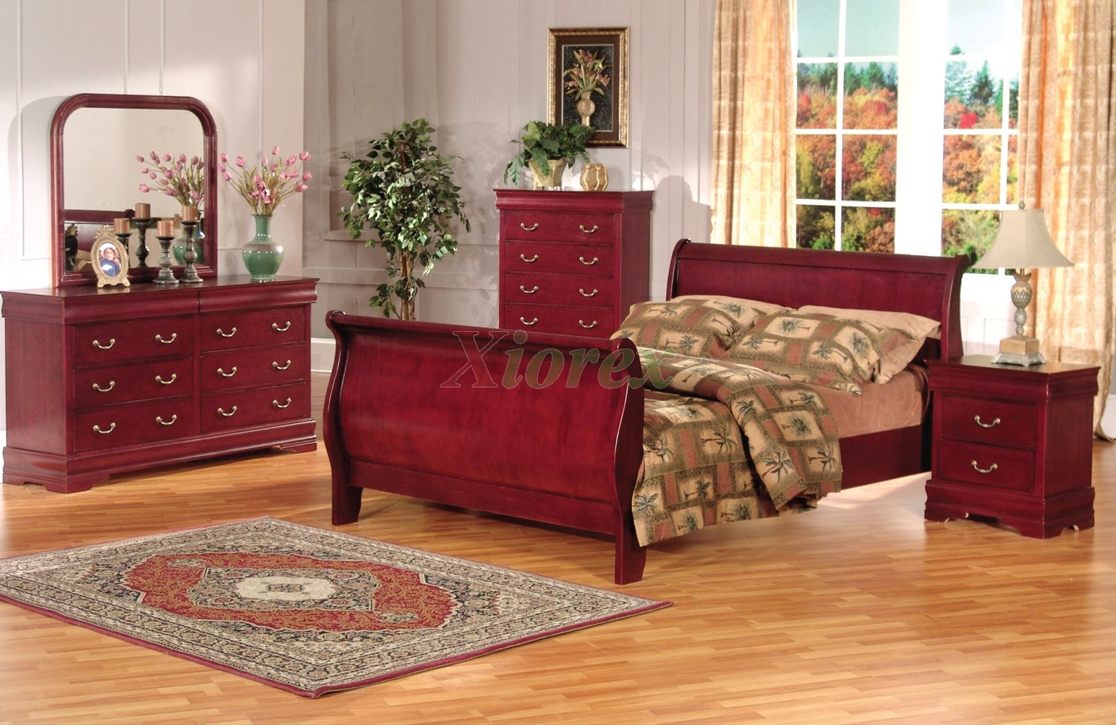 Sleigh Platform Bedroom Set 168 Xiorex
