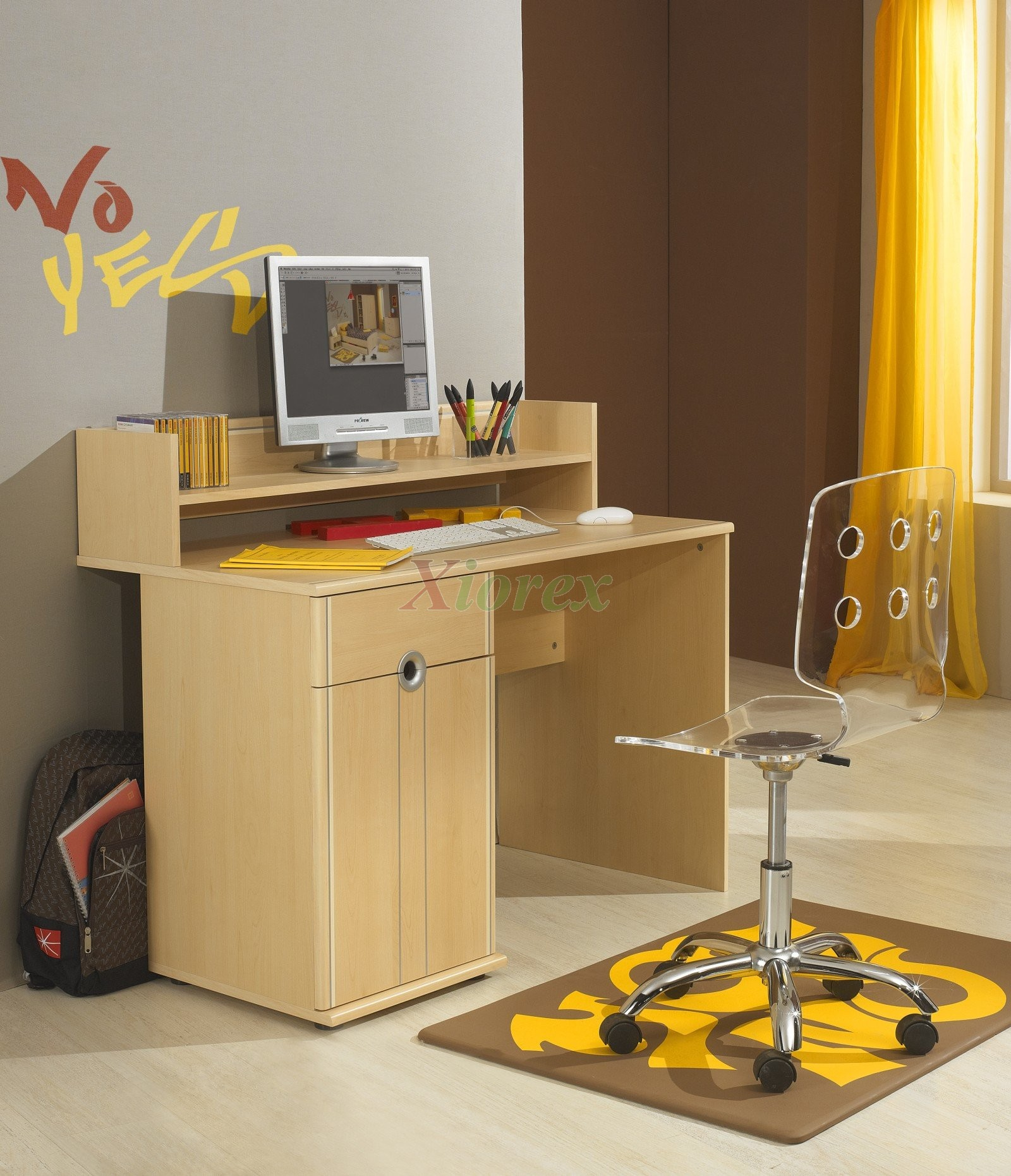 Student Desk With Top Shelf For Gami S Cool Bunkbed And Bed Sets