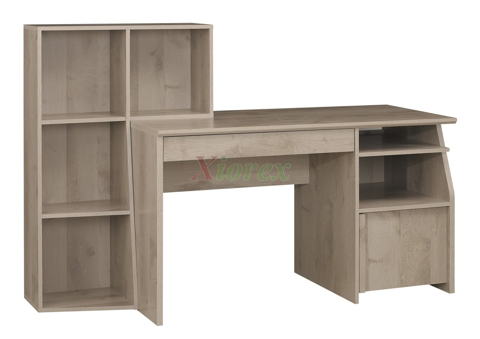timber office desk. Student Desk With Reversible L-shaped Bookcase Gami Timber | Xiorex Office