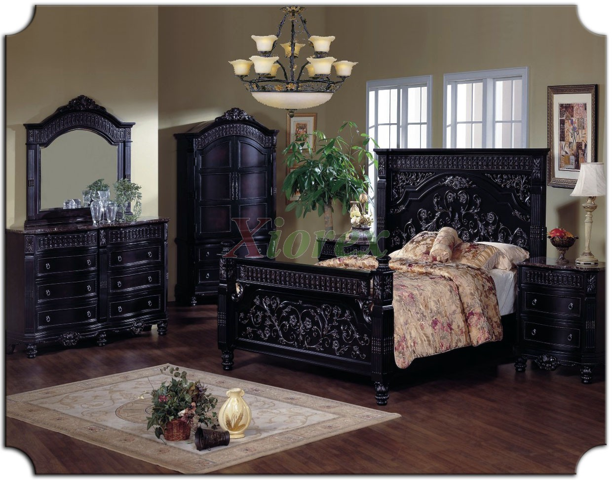 Poster Bed Sets with Tall Headboard Queen Bed   Tall Headboard King Bed    Xiorex. Poster Bedroom Furniture Set w  Tall Headboard Beds 116   Xiorex