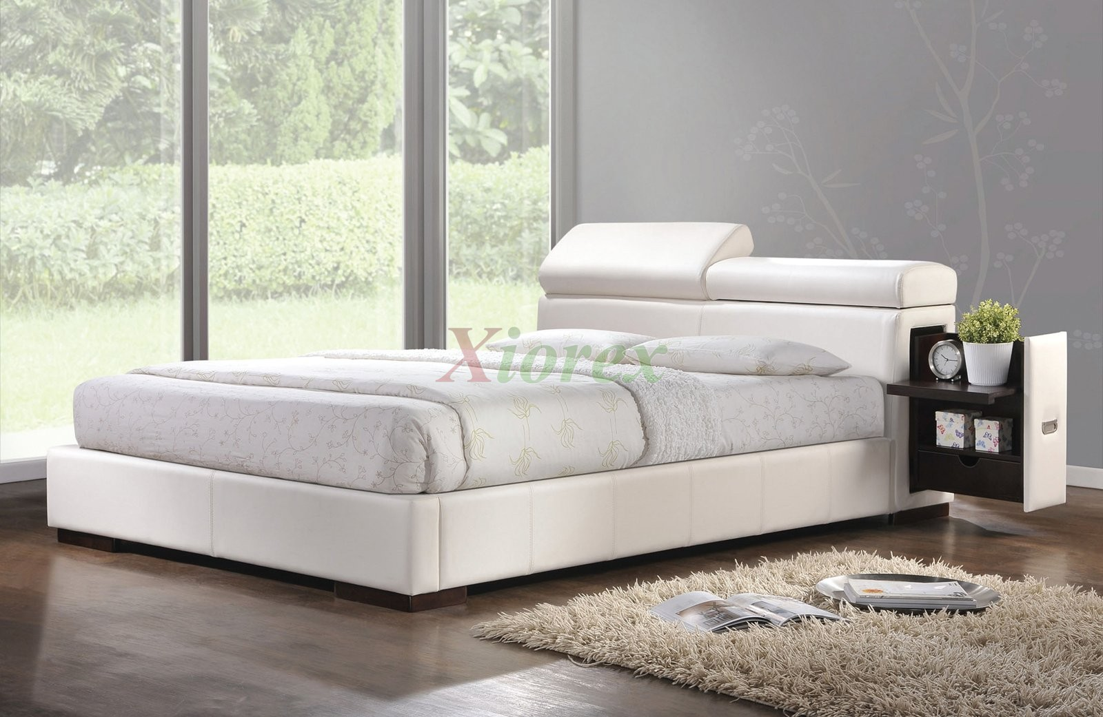 upholstered platform bed furniture w storage headboard, Headboard designs