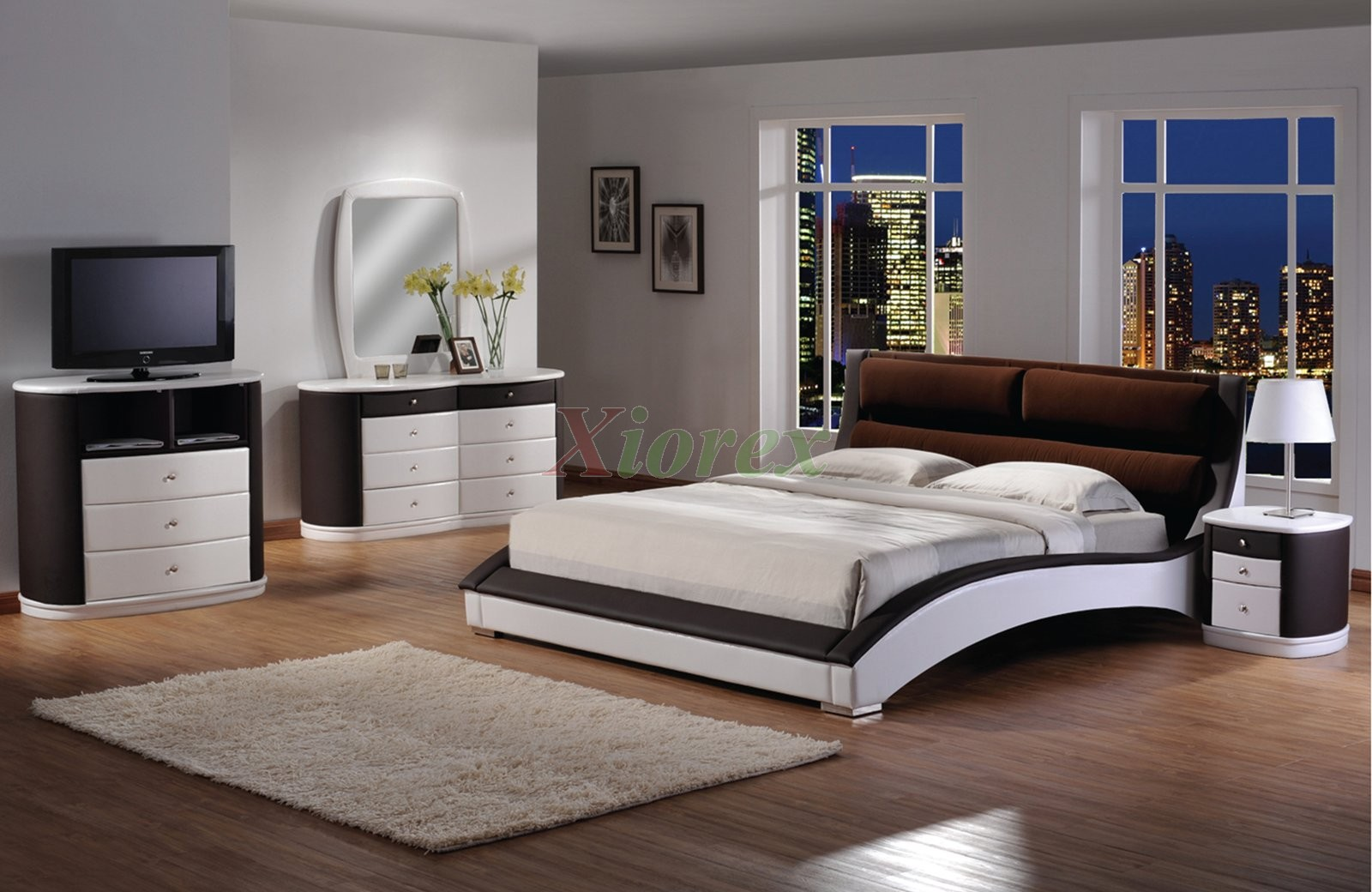 Platform bed furniture - Chic Upholstered Platform Bedroom Furniture Set 155 Xiorex Not Available In The Us
