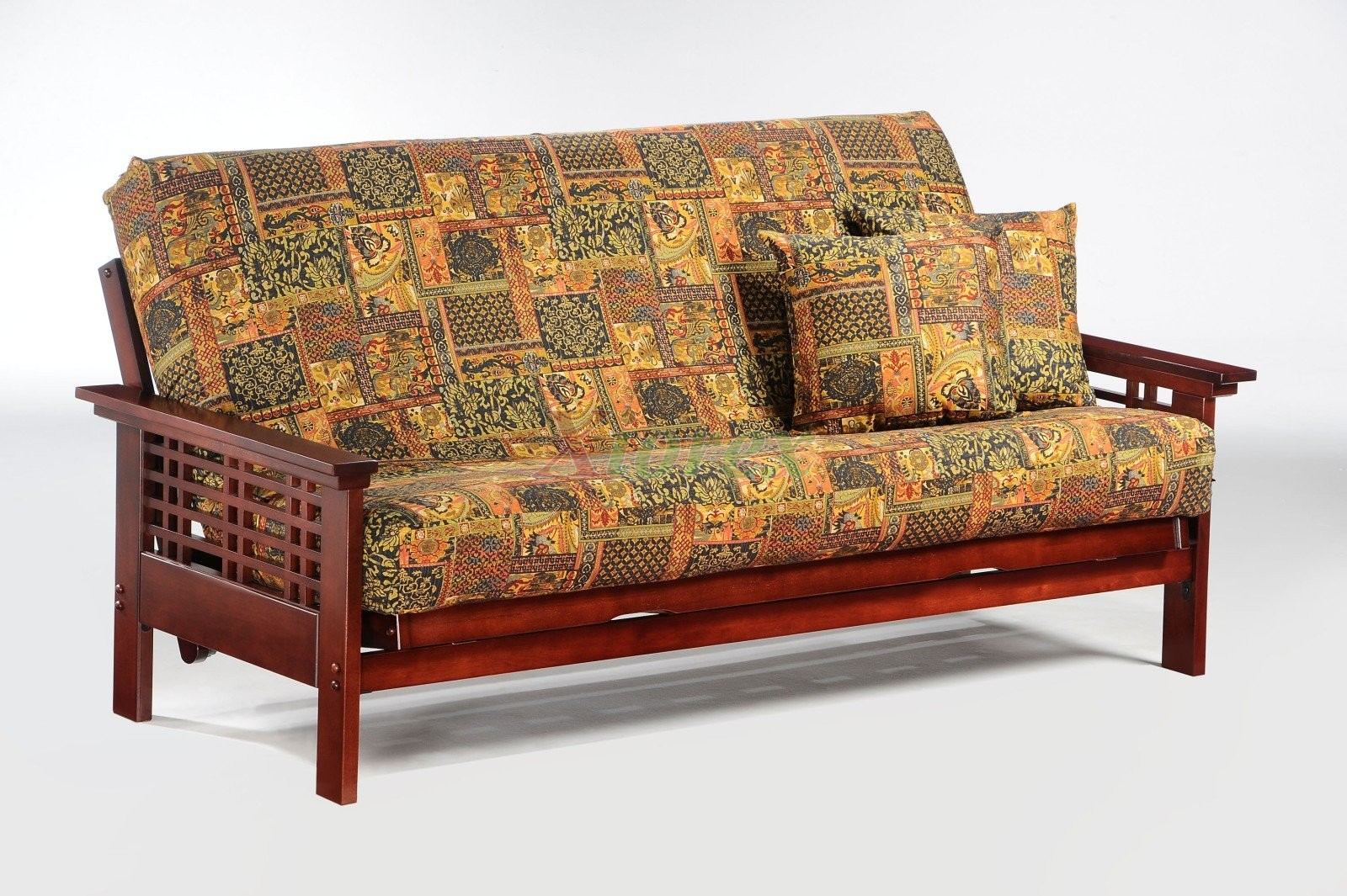 Vancouver Futon By Night And Day Rosewood Wood Frame Xiorex