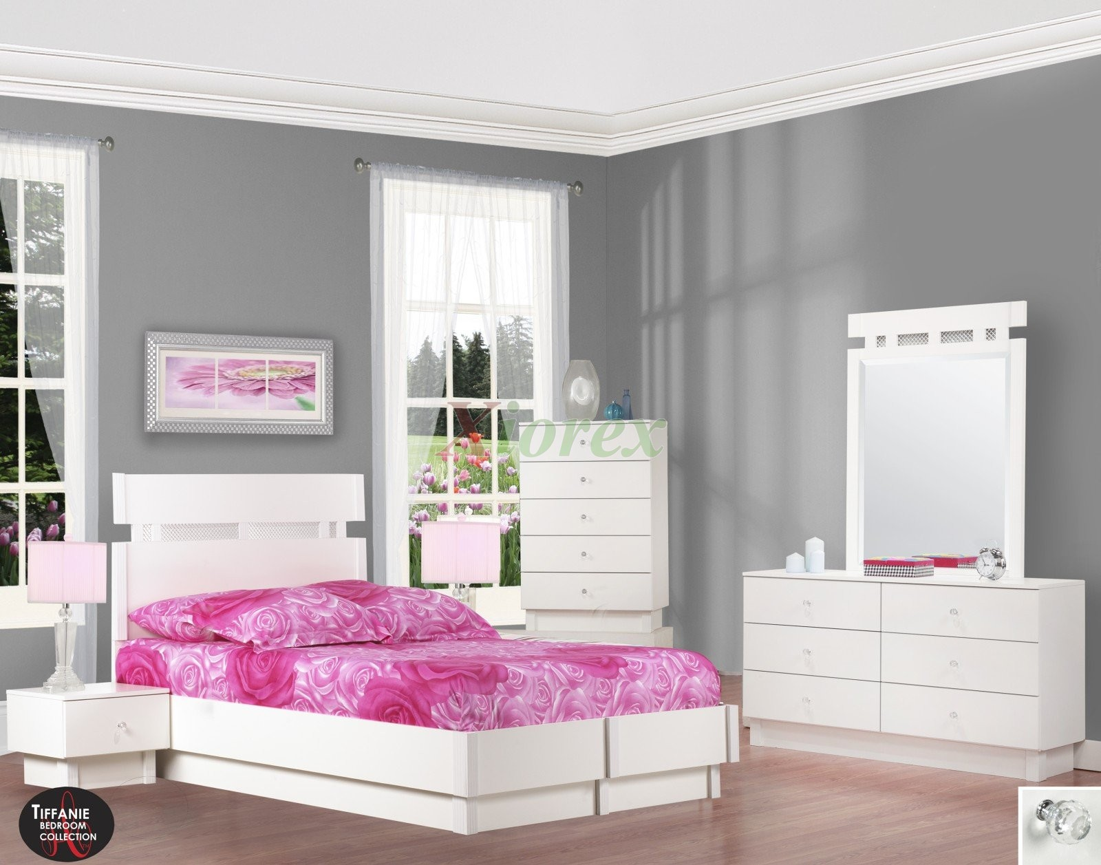 White Platform Bed Set Life Line Tiffanie Full Platform Bed Set | Xiorex ...