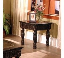 Ajax Dark Brown Square End Table Living Room Furniture | Xiorex