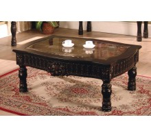 Ajax Rectangle Coffee Table with Faux Marble Top Inlay | Xiorex