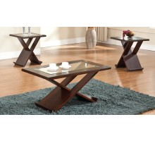 Alchiba Contemporary Coffee and End Tables with X Bases | Xiorex