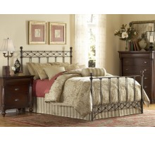Argyle Metal Bed w Frame in Full Queen King Sizes by Fashion Bed Group
