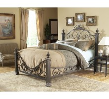 Baroque Bed w Side Rails by Fashion Bed Group in Queen & King Sizes