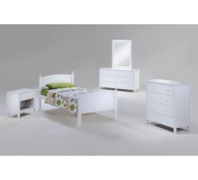 Bed Suite - Licorice Bed Suite w Chest Dresser Mirror & Night Stand