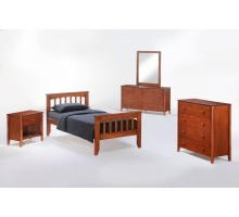 Bed Suite - Sasparilla Bed Suite w Chest Dresser Mirror and Nightstand