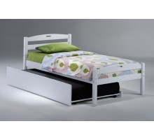Bedroom Furniture - N&D Sesame Twin Bed in White w Trundle | Xiorex