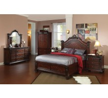 Bedroom Set 109 with Arched Headboard Queen Bed & King Bed | Xiorex