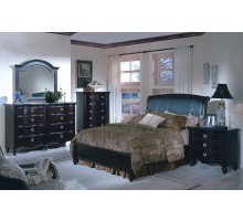 Bedroom Furniture Set with Leather Headboard King Queen Beds | Xiorex