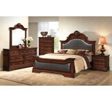 Bedroom Furniture Set with Leather Headboard and Footboard Beds | Xiorex