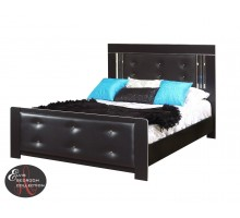 Black Bed Frame Life Line Elvis Bed with Tufted Headboard | Xiorex