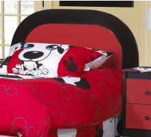 Black Red Panel Headboard for Kids by Life Line Furniture | Xiorex