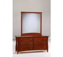 Clove dresser and Mirror Cherry for N&D Spices Bedroom Sets | Xiorex