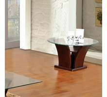 Columba Unique Glass Top End Table | Xiorex
