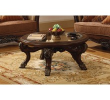Corvi Dark Brown Round Coffee Table Mississauga | Xiorex