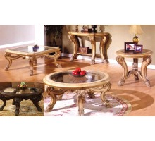 Corvi Glass Top Coffee Table Sets Mississauga with Saber Legs | Xiorex