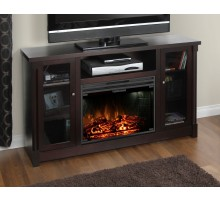 Coventry Flat Panel TV Fireplace by Greenway in Espresso
