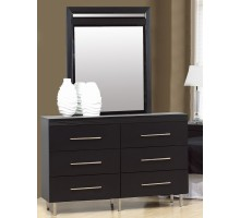 Dresser with Mirror Life Line Phantom Black Dresser Set | Xiorex