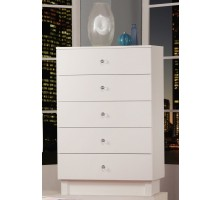 Five Drawer Chest White Life Line Wooden Chest of 5 Drawers | Xiorex