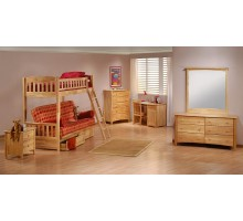 Futon Bunk Bed Set Cinnamon Futon Bunk Suite by Night and Day | Xiorex