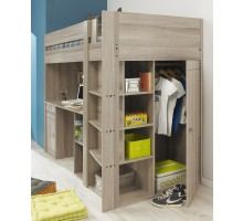 Gami Largo Loft Beds for Teens Canada with Desk and Closet | Xiorex