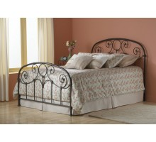 Grafton Metal Bed - Rusty Gold Finish Bed in Twin Full Queen & King