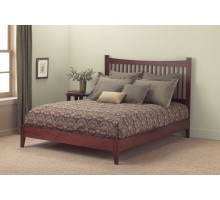 Jakarta Bed - in Mahogany Bed in Full Queen & King Bed Sizes | Xiorex