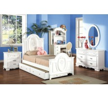 Twin / Single and Full / Double Kids Bed Set with Trundle and Hutch | Xiorex