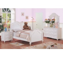 Kids Poster Platform Bed Sets in White | Xiorex