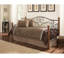 Leggett and Platt Doral Daybed with Walnut Rubber Wood Posts | Xiorex
