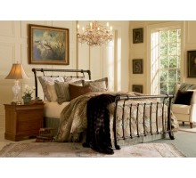 Legion Bed - Metal Sleigh Bed in Queen & King Bed Sizes at Xiorex
