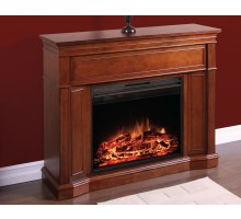 Monaghan Electric Fireplace in Cherry & Espresso Finish by Greenway