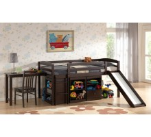 Mulberry Boys & Girls Cabin Loft Beds with Slide, Desk & Storage | Xiorex