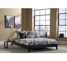 Murray Platform Bed - in Black & Mahogany Finish by Fashion Bed Group