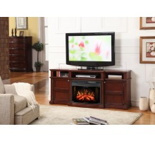 Muskoka Merrill Media Console Fireplace in Burnished Cherry  Xiorex