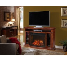"Muskoka Stewart Media Fireplace w 33"" Curved Electric Firebox 