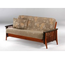 Night and Day Aurora Futon Sofa Bed in Mix Cherry Dark Chocolate | Xiorex