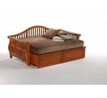 Night and Day Nightfall Daybed w Extension Drawers in Cherry | Xiorex