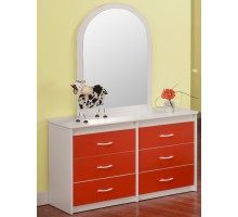 Orange White Dresser for Kids Life Line Tango Dresser | Xiorex