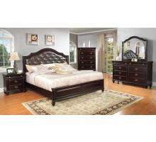 Platform Bedroom Furniture Set with Leather Headboard | Xiorex