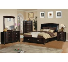 Platform Bedroom Set with Leather Headboard Beds | Xiorex