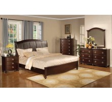 Platform Bedroom Furniture Set with Leather Headboard | Xiorex
