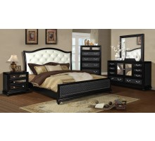 Platform Bedroom Furniture Set with Leather Headboard Beds | Xiorex