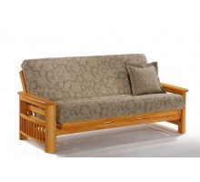 Portofino Futon by Night and Day Furniture in Honey Oak | Xiorex